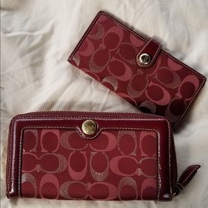 Authentic Coach Signature Wallet & Checkbook Cover